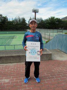 第72回福島県総合体育大会テニス競技65歳以上男子シングルス優勝