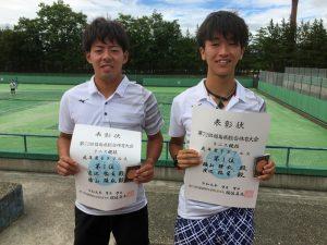 第72回福島県総合体育大会テニス競技一般男子ダブルス優勝