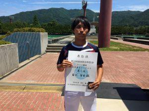 第72回福島県総合体育大会テニス競技一般男子シングルス優勝
