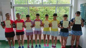 中牟田杯全国選抜ジュニアテニス選手権福島県予選女子ダブルス入賞者