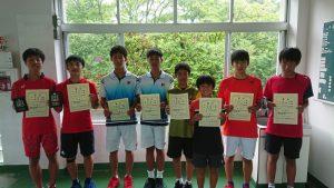中牟田杯全国選抜ジュニアテニス選手権福島県予選男子ダブルス入賞者