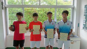 中牟田杯全国選抜ジュニアテニス選手権福島県予選男子シングルス入賞者