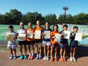 第33回福島県秋季小学生テニス選手権大会女子ダブルス入賞者