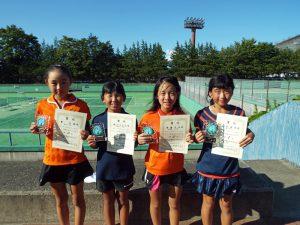 第33回福島県秋季小学生テニス選手権大会女子入賞者