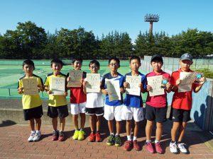 第33回福島県秋季小学生テニス選手権大会男子ダブルス入賞者