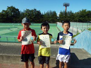 第33回福島県秋季小学生テニス選手権大会男子入賞者