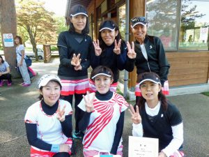 第61回福島県クラブ対抗テニス大会女子優勝チーム