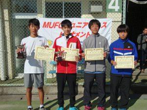 MUFGジュニアテニストーナメント2019福島県大会男子シングルス入賞者