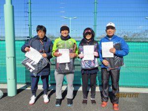 第40回中尾杯福島県シングルステニス選手権大会50歳男女、55歳男子シングルス入賞者