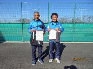 第40回中尾杯福島県シングルステニス選手権大会60歳男子シングルス入賞者