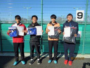 第40回中尾杯福島県シングルステニス選手権大会一般男子シングルス入賞者