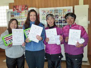 第46回福島県ダブルステニス選手権大会一般女子の部入賞者