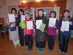 第46回福島県ダブルステニス選手権大会40歳女子の部入賞者