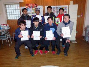 第46回福島県ダブルステニス選手権大会一般男子の部入賞者