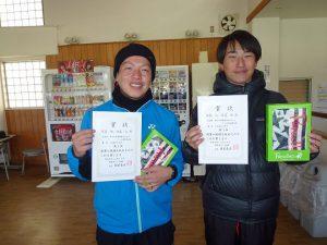 第46回福島県ダブルステニス選手権大会35歳男子の部入賞者1