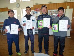 第46回福島県ダブルステニス選手権大会45歳男子の部入賞者