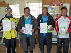 第46回福島県ダブルステニス選手権大会50歳男子の部入賞者