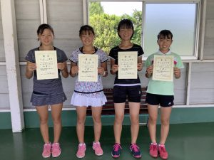 日植杯'20RSK全国選抜ジュニアテニス選手権福島県予選女子シングルス入賞者