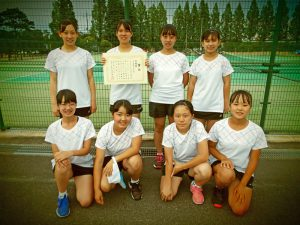 2020福島県中学生テニス選手権大会男子女子2位