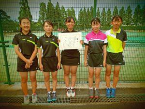 2020福島県中学生テニス選手権大会女子3位