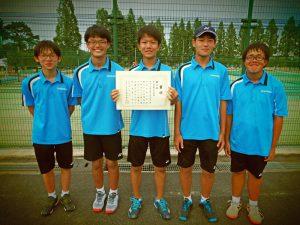 2020福島県中学生テニス選手権大会男子団体3位