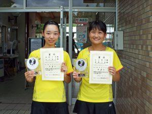 2020福島県中学生テニス選手権大会女子ダブルス優勝