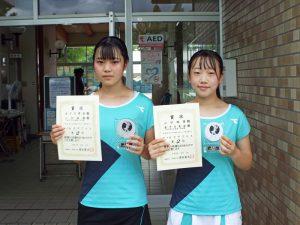 2020福島県中学生テニス選手権大会女子ダブルス2位