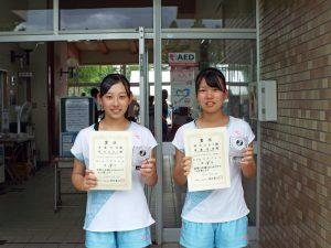 2020福島県中学生テニス選手権大会女子ダブルス3位
