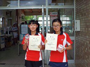 2020福島県中学生テニス選手権大会女子ダブルス4位