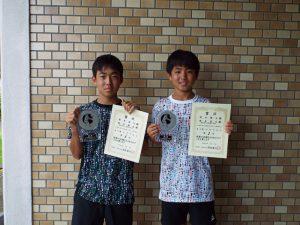 2020福島県中学生テニス選手権大会男子ダブルス優勝