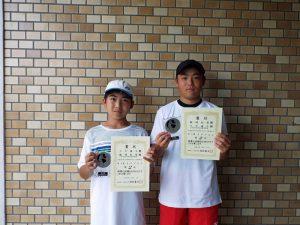 2020福島県中学生テニス選手権大会男子ダブルス2位