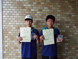 2020福島県中学生テニス選手権大会男子ダブルス3位