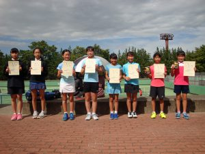 第34回福島県秋季小学生テニス選手権大会女子ダブルス入賞者