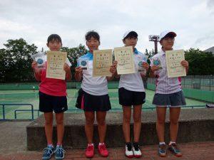 第34回福島県秋季小学生テニス選手権大会女子シングルス入賞者