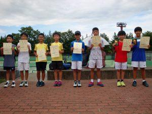 第34回福島県秋季小学生テニス選手権大会男子ダブルス入賞者