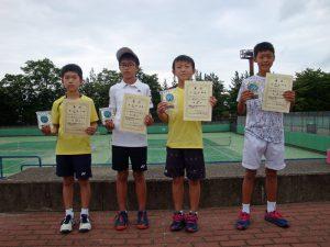 第34回福島県秋季小学生テニス選手権大会男子シングルス入賞者