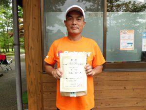 第41回中尾杯福島県シングルステニス選手権50歳男子シングルス優勝