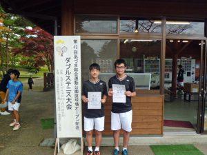 第43回あづま総合運動公園庭球場オープン記念ダブルステニス大会ジュニアの部中学生男子優勝