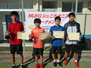 MUFGジュニアテニストーナメント2021福島県大会男子シングルス入賞者
