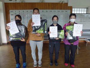 第47回福島県ダブルステニス選手権大会一般の部一般女子入賞者