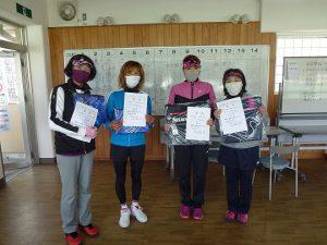 第47回福島県ダブルステニス選手権大会一般の部40歳以上女子入賞者