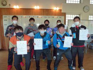 第47回福島県ダブルステニス選手権大会一般の部一般男子入賞者