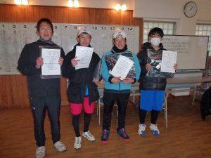 第47回福島県ダブルステニス選手権大会一般の部35歳以上男子入賞者