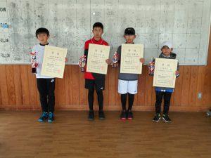 第40回福島県春季選抜ジュニアシングルス選手権大会U12男子入賞者