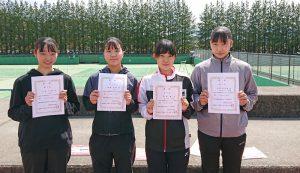 第38回福島県春季ジュニアシングルステニス選手権大会U16女子入賞者