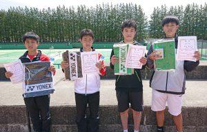 第38回福島県春季ジュニアシングルステニス選手権大会U16男子入賞者