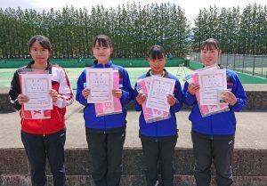 第38回福島県春季ジュニアシングルステニス選手権大会U18女子入賞者