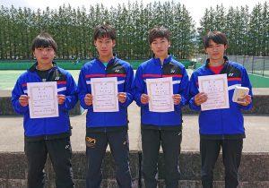 第38回福島県春季ジュニアシングルステニス選手権大会U18男子入賞者