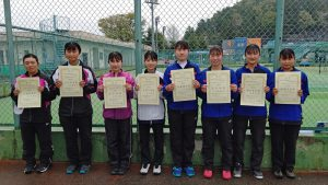 第38回福島県春季ジュニアダブルステニス選手権大会U18の部女子入賞者