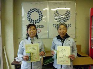 第63回オノヤ杯福島県春季ダブルステニス選手家大会50歳以上男子ダブルス優勝